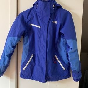 Women's North Face Hooded Cinnabar Triclimate
